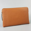 SORRENTO- Ladies Tan Lux Leather Clutch Bag IPad Business Case - AllBags4u
