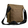 Spencer - Mens Brown Cotton Canvas Flat Shoulder Messenger Side Bag - AllBags4u