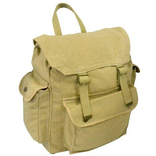 GIBSON - Khaki Canvas Backpack-backpack bag-BeltNBags-BeltNBags