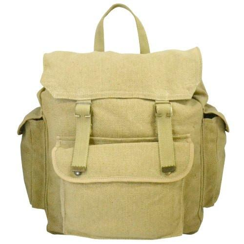 TAMWORTH - Khaki Canvas Bag-backpack bag-BeltNBags-BeltNBags