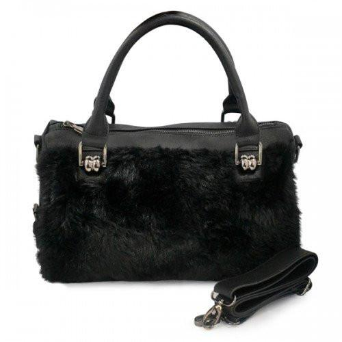 TAYLOR -Vegan Leather Fur Tote - AllBags4u