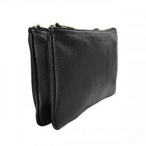 PENNY - Women's Black Vegan Leather Clutch - AllBags4u