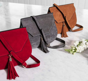 Tamarama structured suede saddle bag - AllBags4u