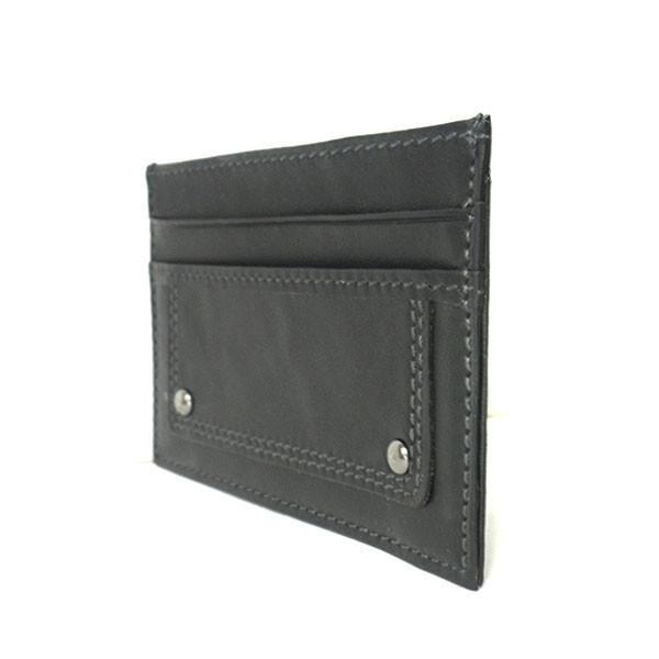 WILLIS - Mens Black Genuine Compact Thin Leather Cardholder Wallet - AllBags4u