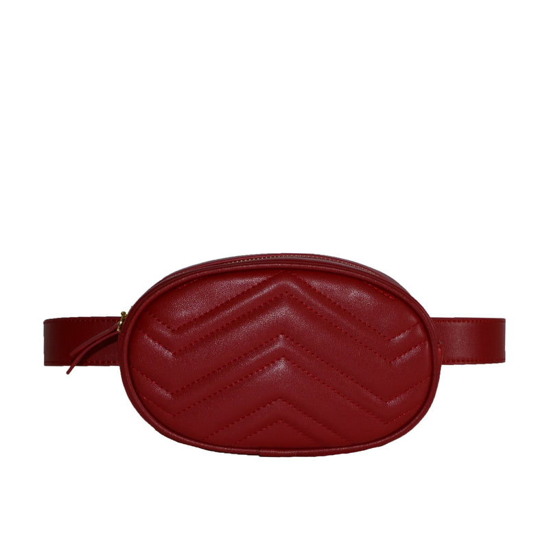 BUNBURY- Wine Red Leather Bum Bag - AllBags4u