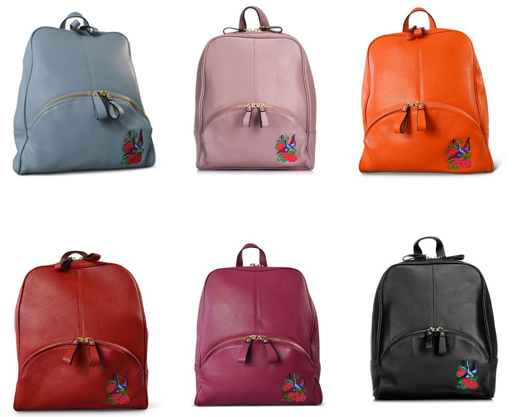 KINGSCLIFF- Addison Road - Lilac Pebbled Leather Backpack-Backpacks-Addison Road-BeltNBags