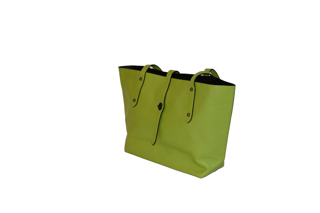 LIME -Soft, pebbled leather bag - AllBags4u