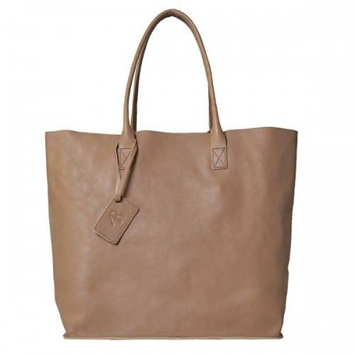 Birchgrove - Beige Leather Slouch Shopper Tote - AllBags4u