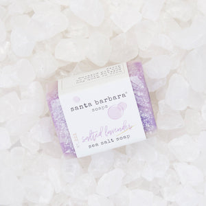 mini bar sea salt soap - salted lavender