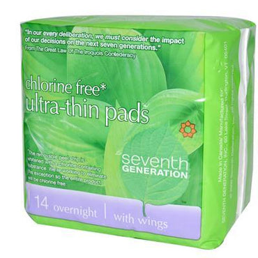 Seventh Generation Ultra Thin Overnight Pads (12x14 CT)
