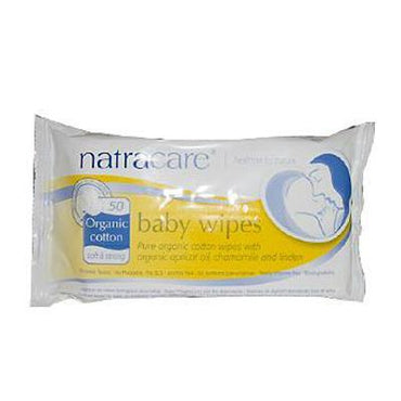 Natracare Organic Cotton Baby Wipes (1x50 ct)