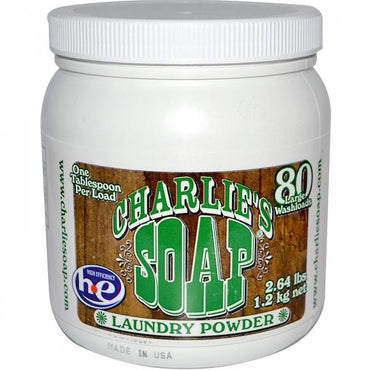Charlies Soap Laundry Powder 80Lds (6x2.64LB )