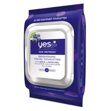 Yes To Blueberries Brightening Facial Towelettes (3x30 Ct)
