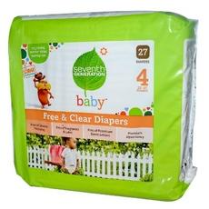 Seventh Generation Baby Free And Clear Diapers Stage 4: 22-37 Lbs (4x27 CT)