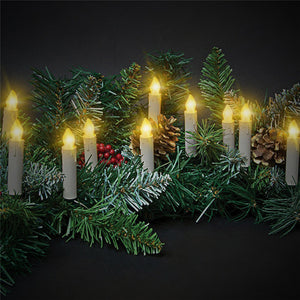 10pcs tree decoration wireless remote control led candles battery operated light for christmas party wedding garden