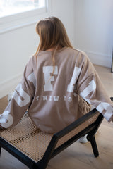 Buffalo New York Sweatshirt in Mocha