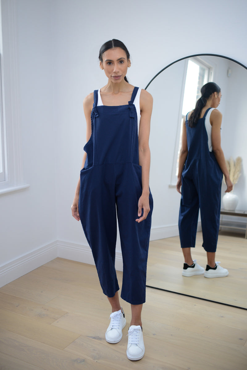 Mom Dungarees In Navy
