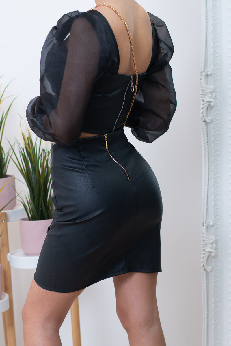 Electra Faux Leather Mini Skirt