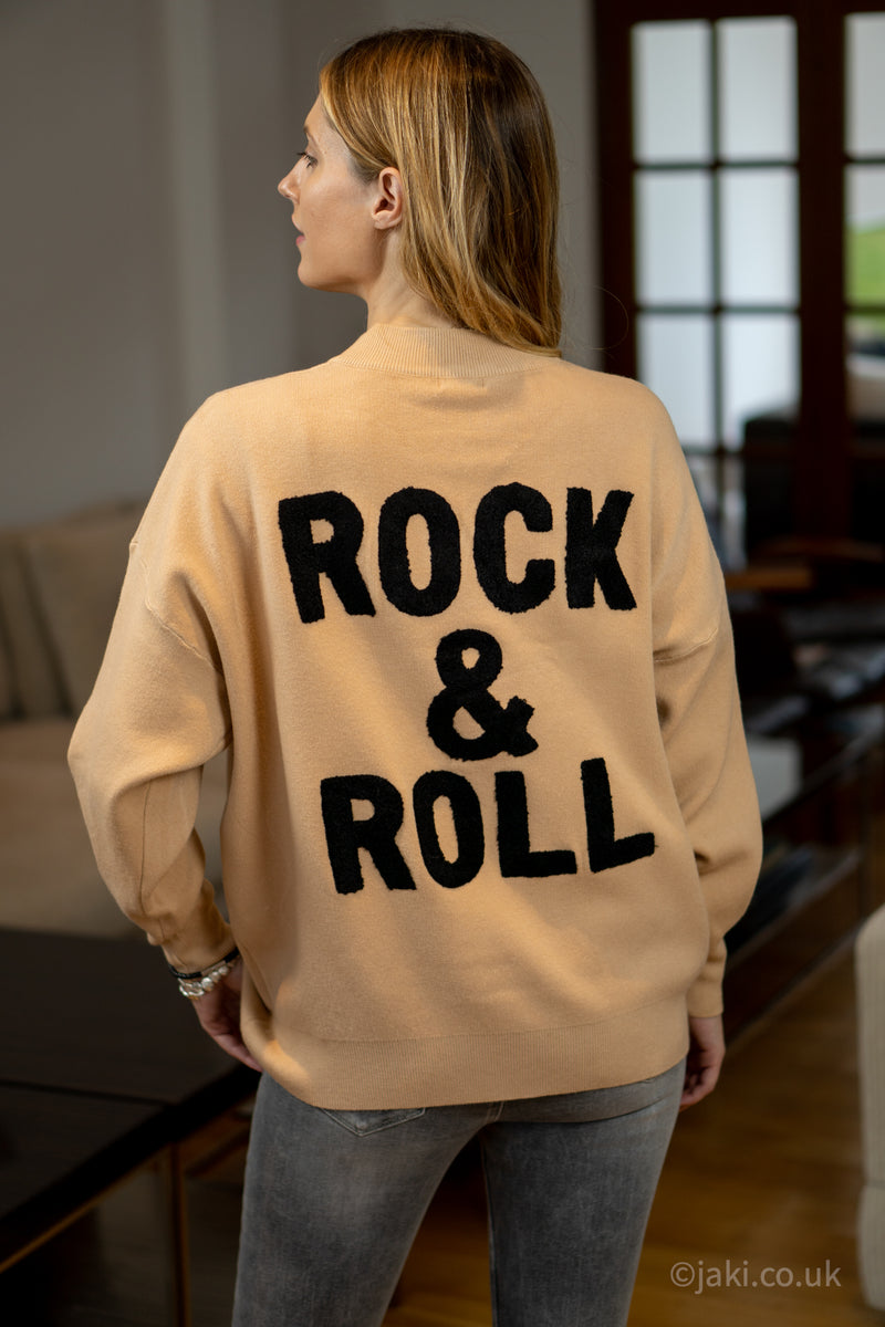 Rock & Roll Jumper in Camel