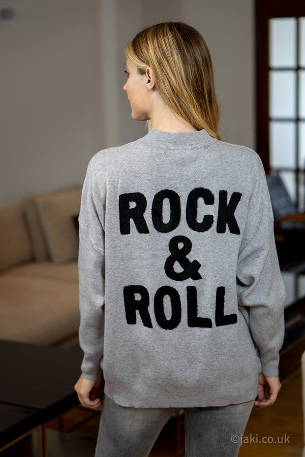 Rock & Roll Jumper in Grey