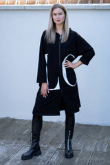 Love Longline Parka in Black