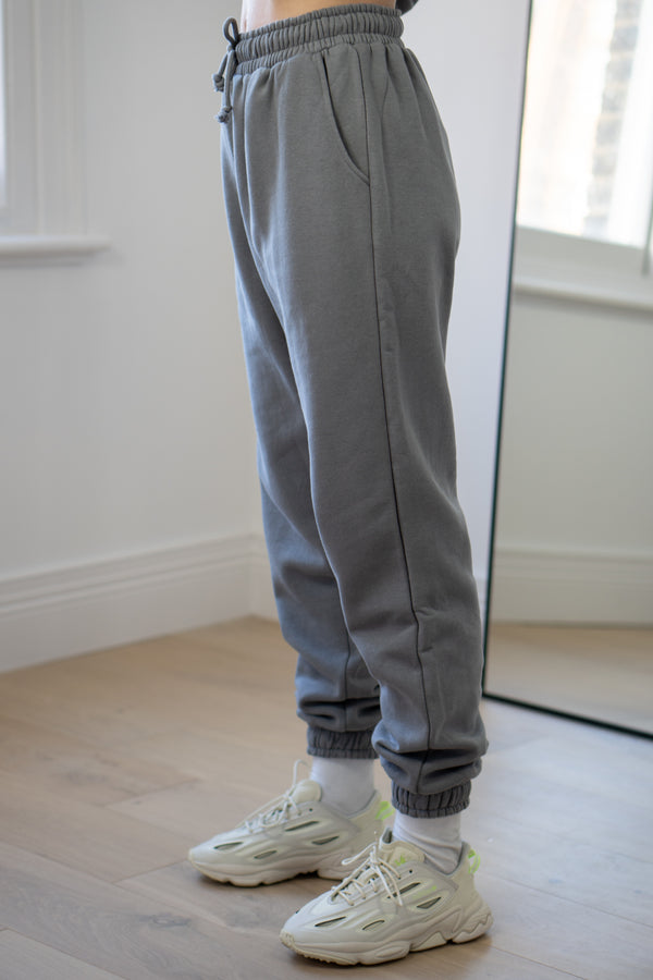 Warm Fleece Sweatpants In Grey