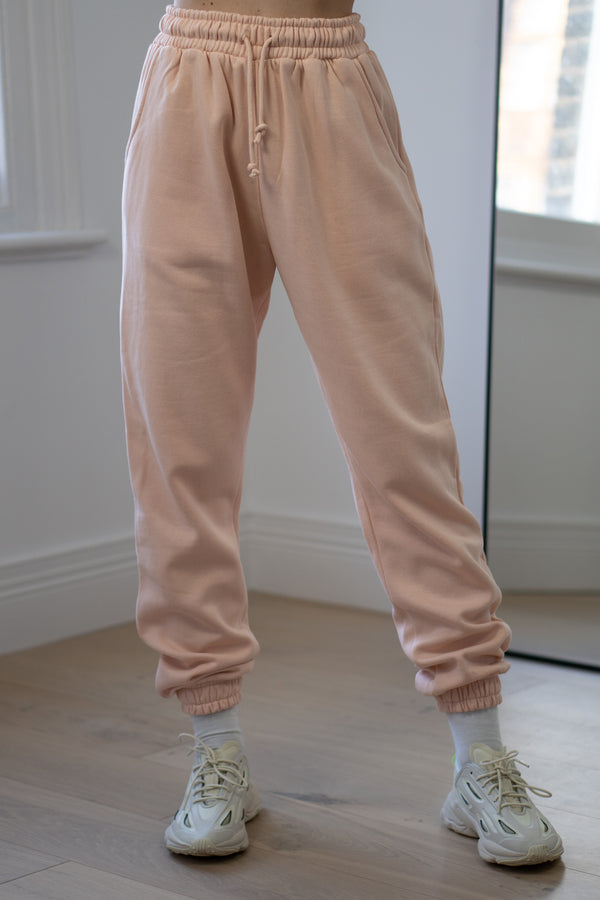 Warm Fleece Sweatpants In Blush