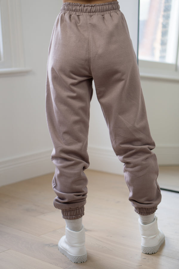 Warm Fleece Sweatpants In Mauve