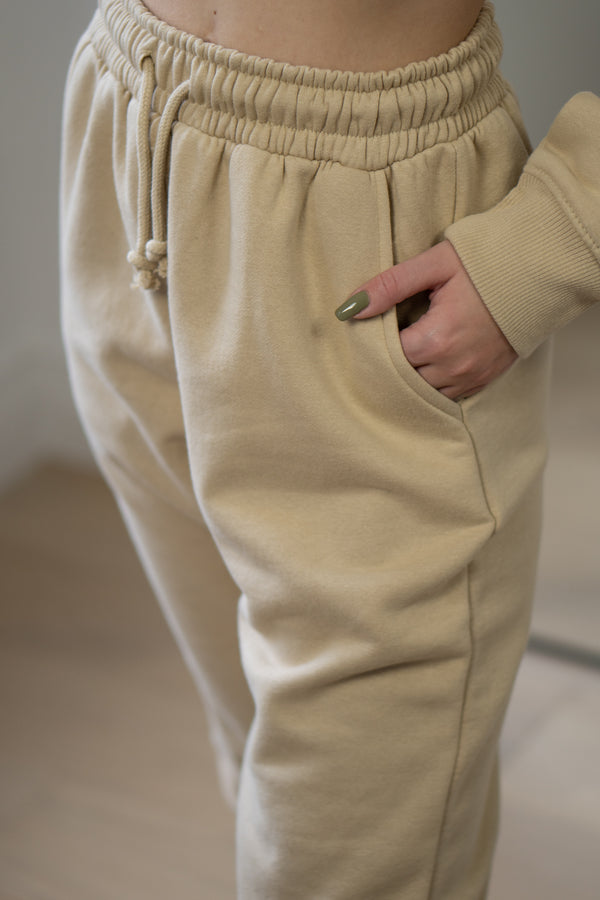 Warm Fleece Sweatpants In Vintage Stone