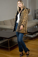 Reversible Leopard Faux Fur Coat