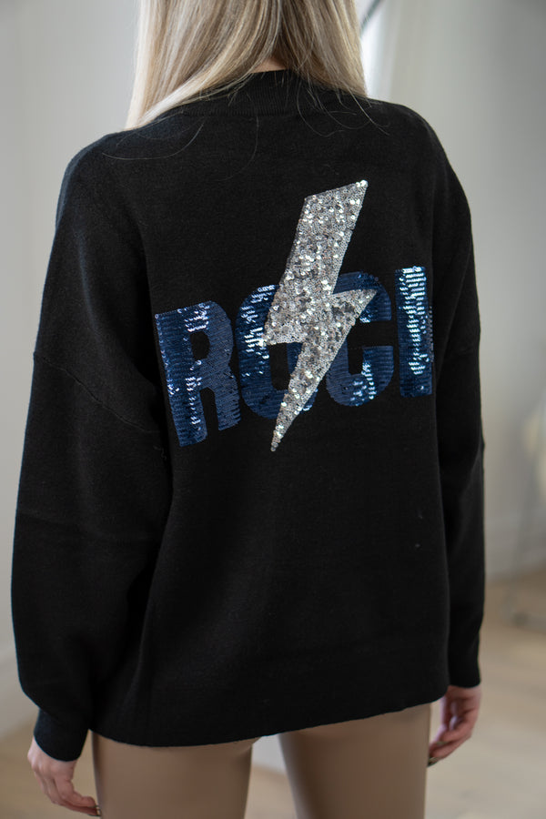 Rock Strikes Back Jumper in Black