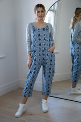 Star Dungarees in Blue