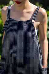 Cotton Dungarees in Black