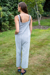 Cotton Dungarees in Light Grey
