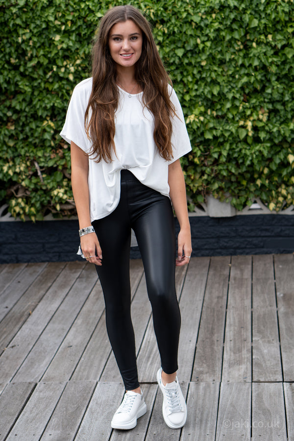 Faux Leather Trousers (Four Pocket Super Stretch)