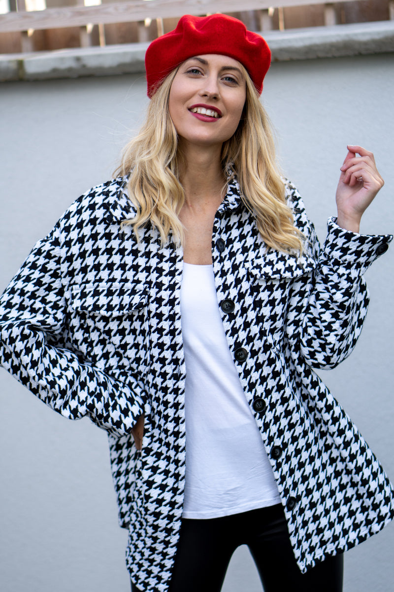 Houndstooth Tweed Shacket