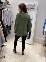 Lips Boatneck Knit In Khaki