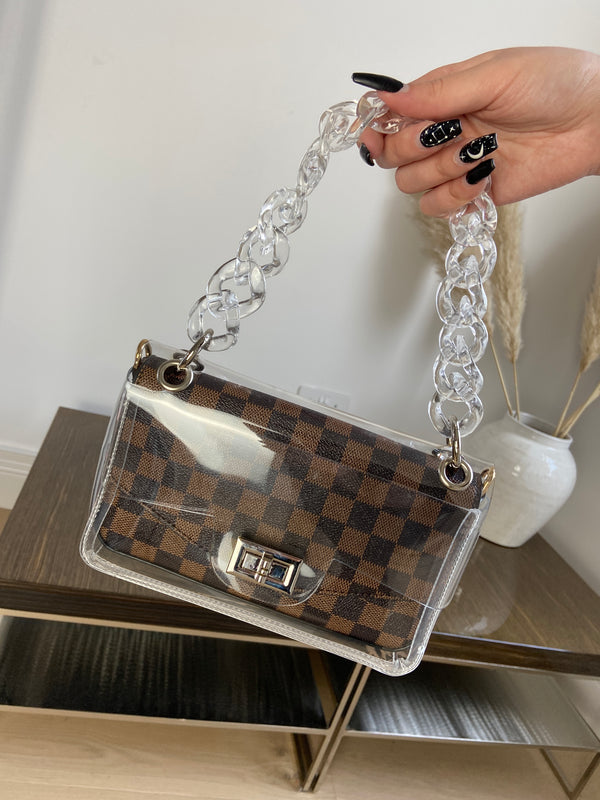 Brown Handbag with Chain