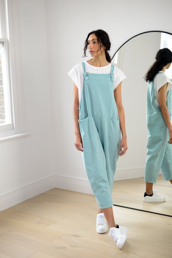 Boyfriend Dungarees In Mint