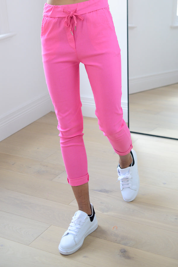 Joggers In Hot Pink