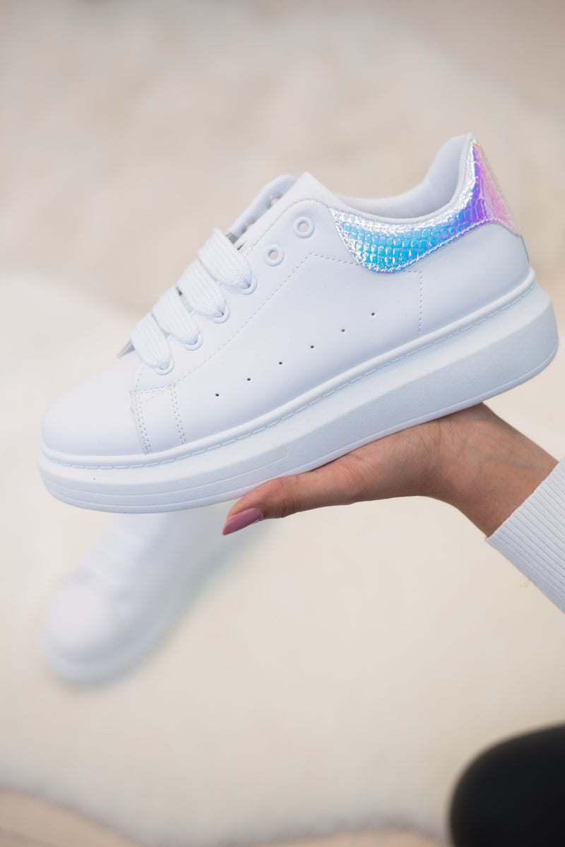Mandy Chunky Sole Trainers (White/Reflective)