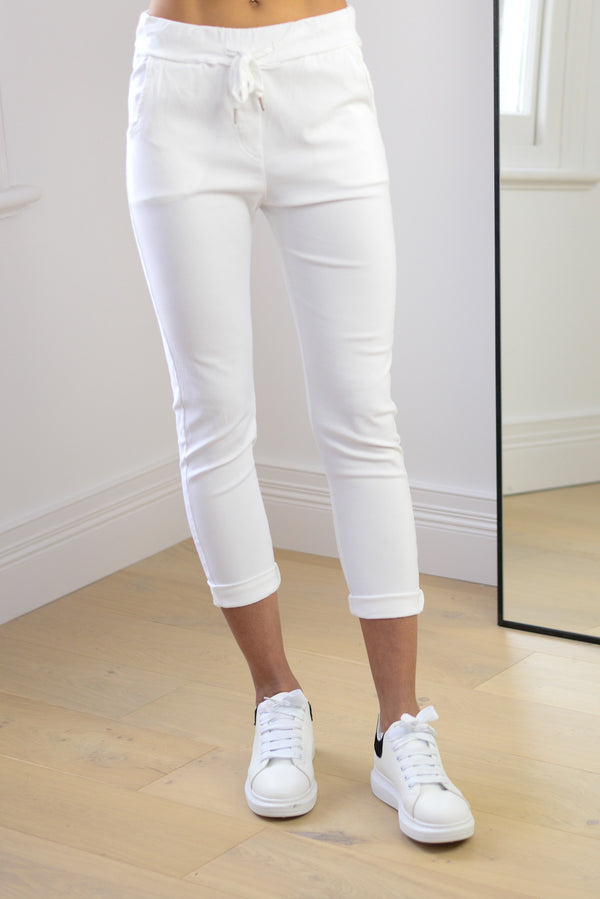 Joggers In White