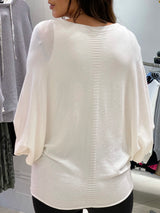 Lips Boatneck Knit In Cream