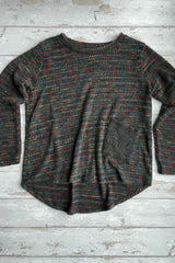 Flecked Pocket Jumper in Grey