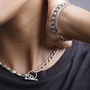 2-in-1 Xtra Coffee Chain BRACELET/(SHORT)-NECKLACE