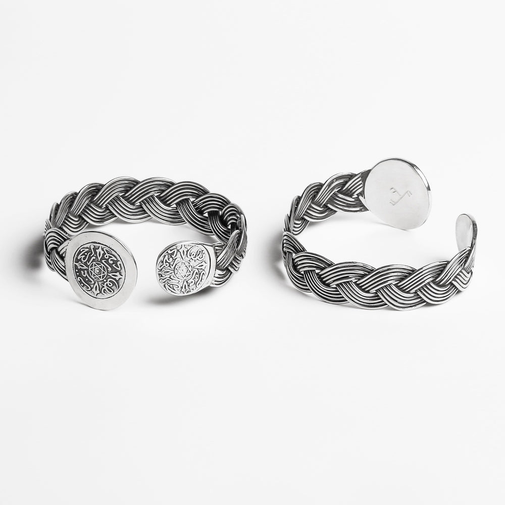 Load image into Gallery viewer, Coins Braided Bangle BRACELET