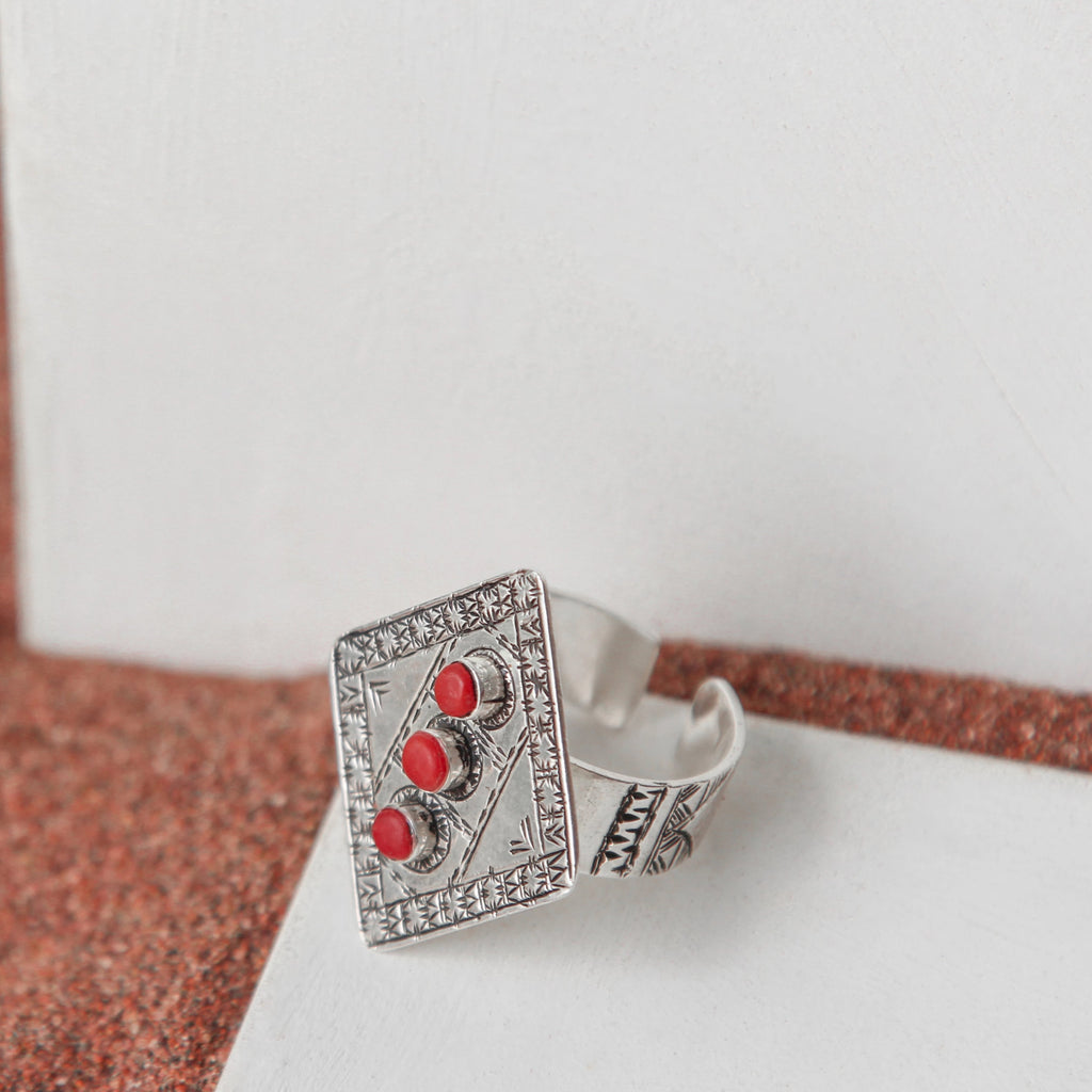 BAGUE CORAL DIAMOND