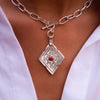 COLLIER CORAL DIAMOND