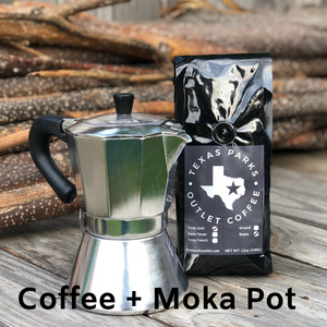 Moka Pot + Coffee