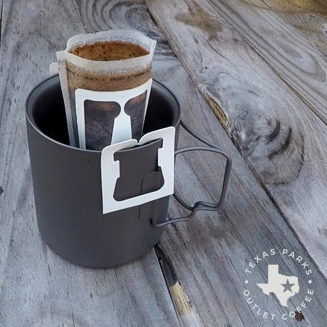 Texas Pour over coffee filter bags single cup